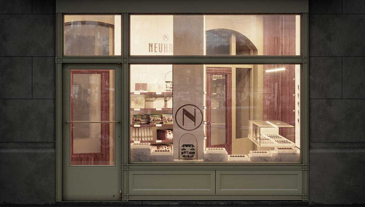 Neuhaus shopfront render