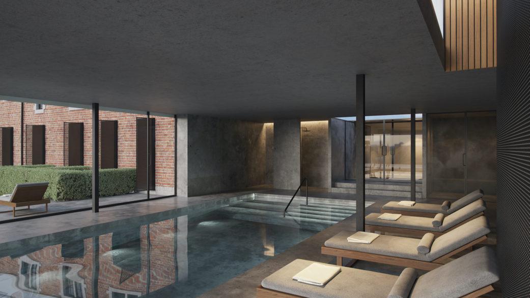 Hotel spa 3D rendering