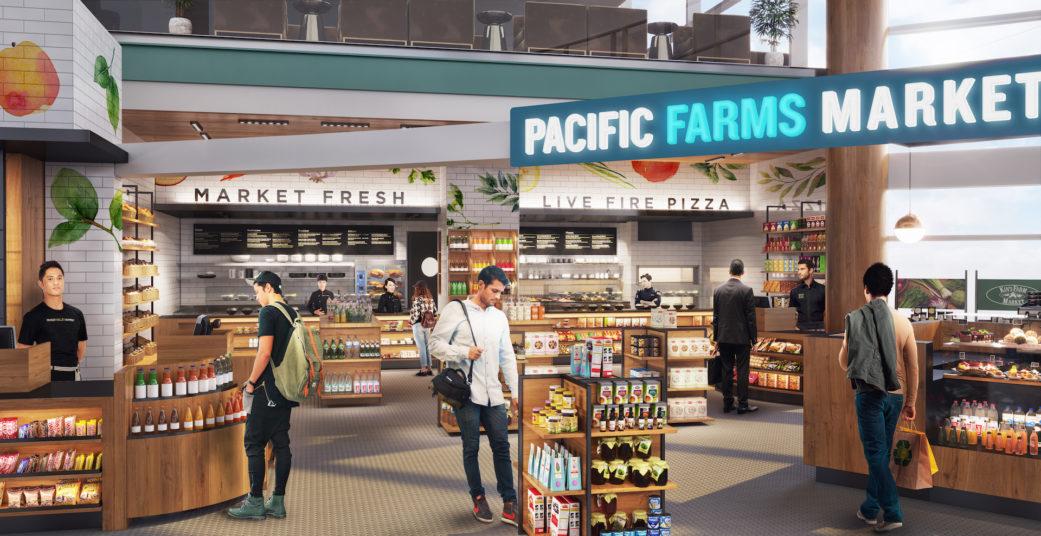 Food market 3D rendering