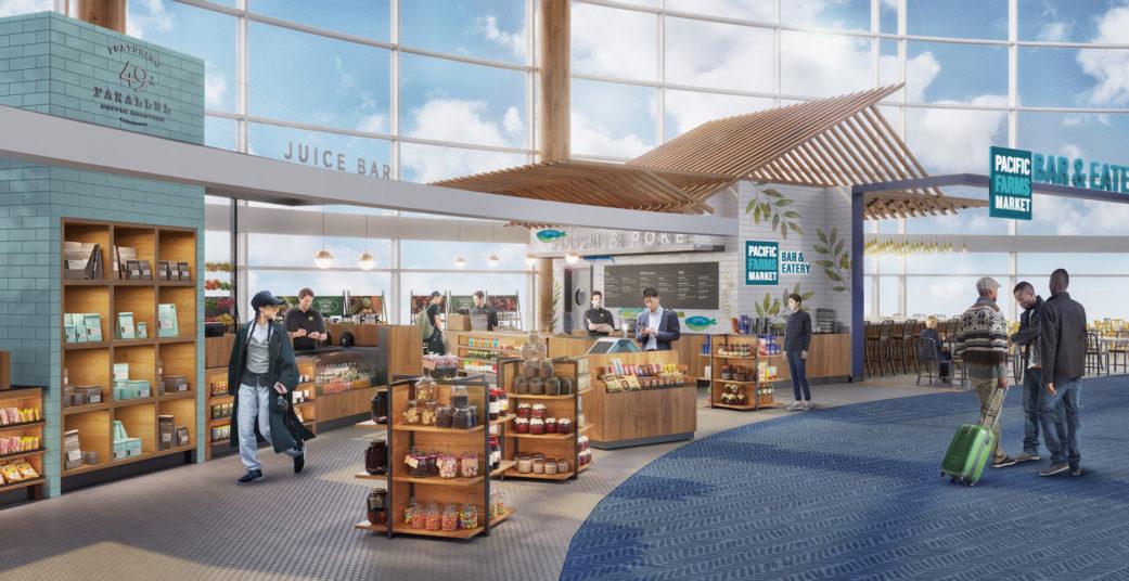 Airport interior rendering