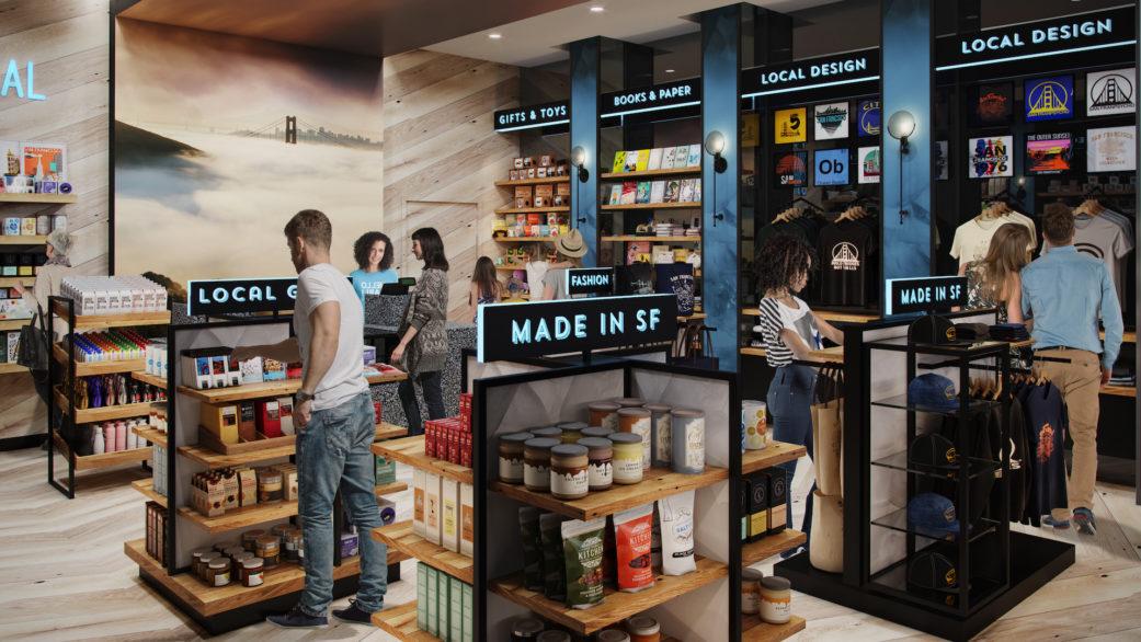 Gift shop 3D rendering