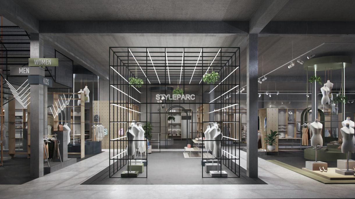 Concept store 3D rendering