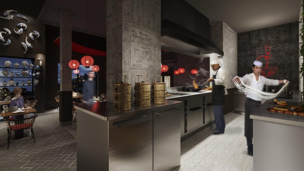 Open kitchen render