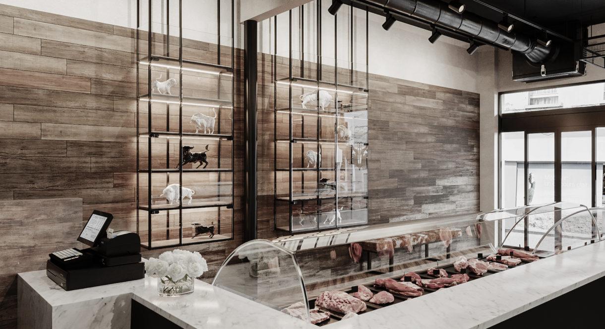Butcher shop 3D visualization