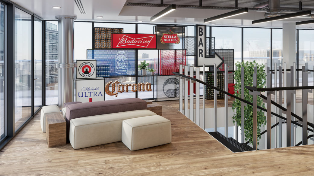 Beer lightbox 3D visual