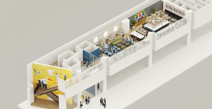 New Orleans airport axonometric 3D render