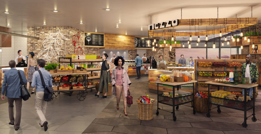 Oakland airport supermarket 3D render