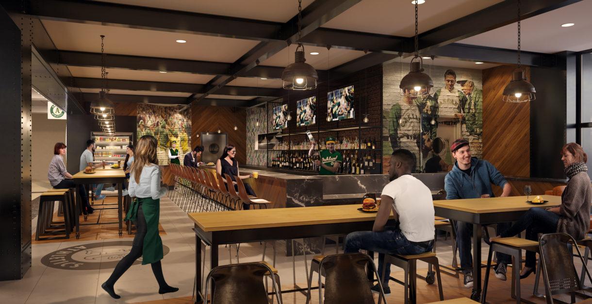 Oakland airport bar 3D render