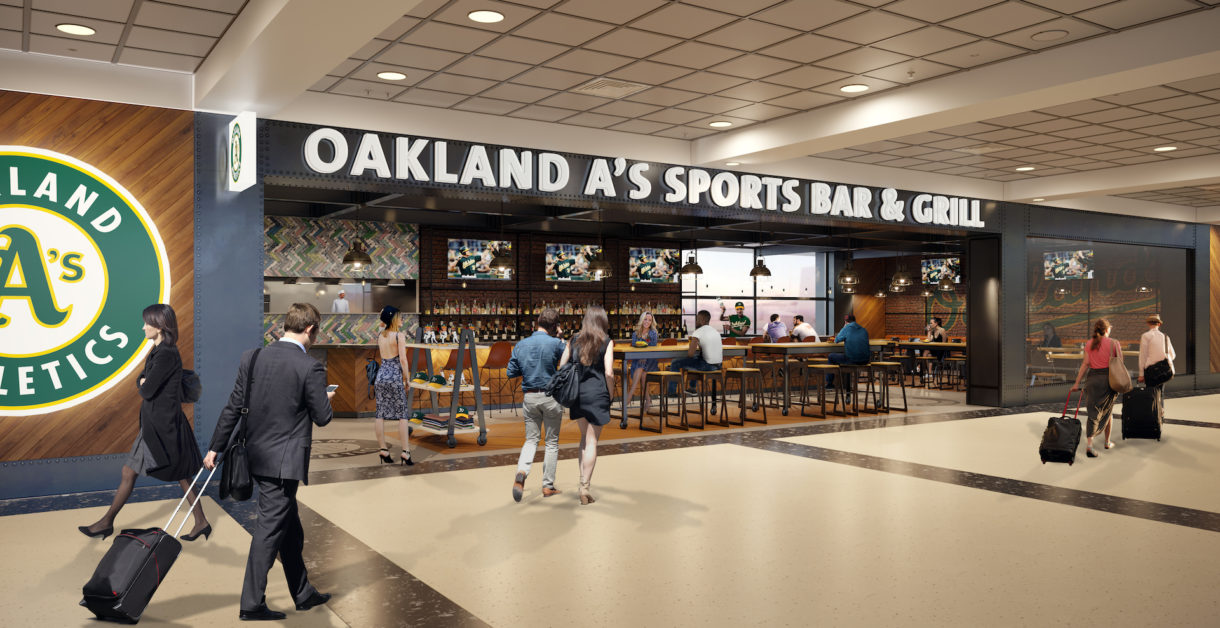 Oakland airport food court