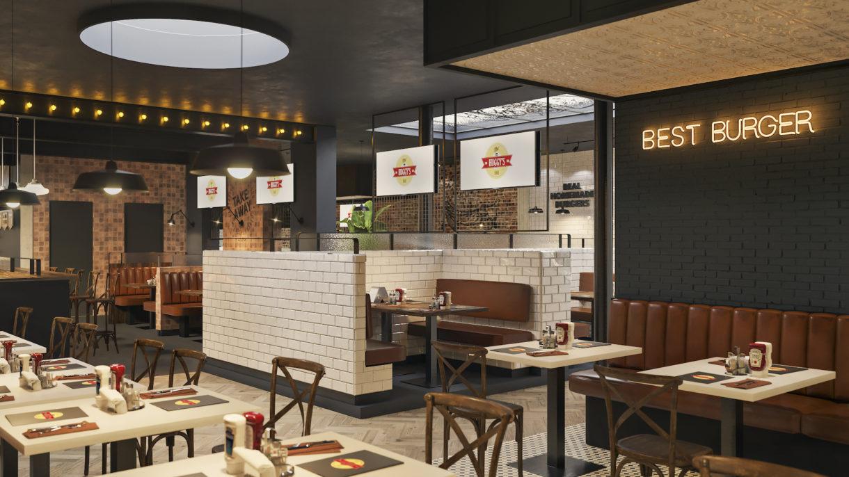 Burger restaurant 3D visualization project