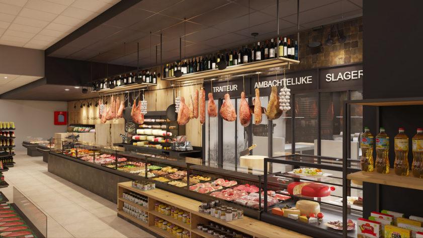 SPAR supermarket butcher