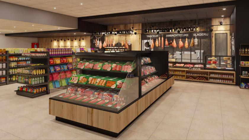 SPAR supermarket shelves