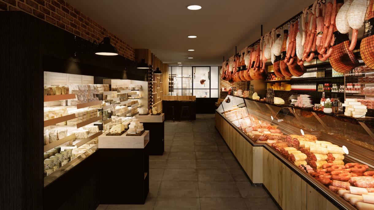 Realistic butcher shop renders
