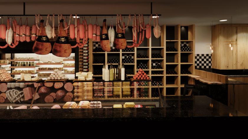 Dark butcher shop visualization