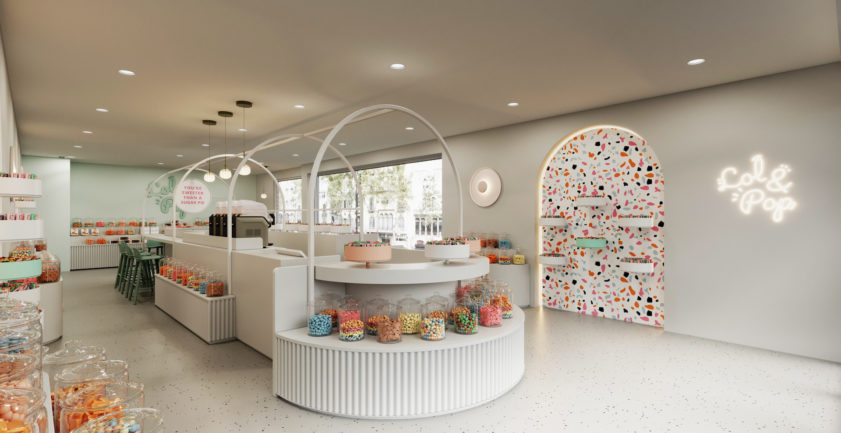 Candy store 3D interior