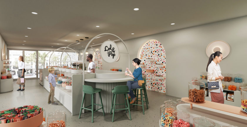 Candy store 3D interior design
