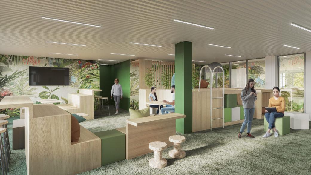 Workspace architectural 3D visualization
