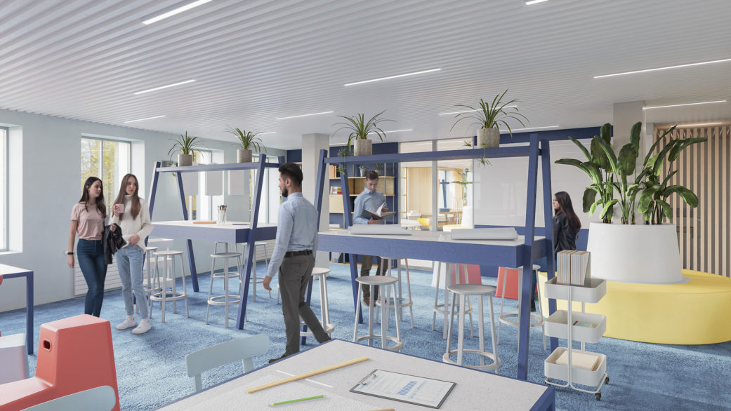 Coworking 3D visualization by nofuss