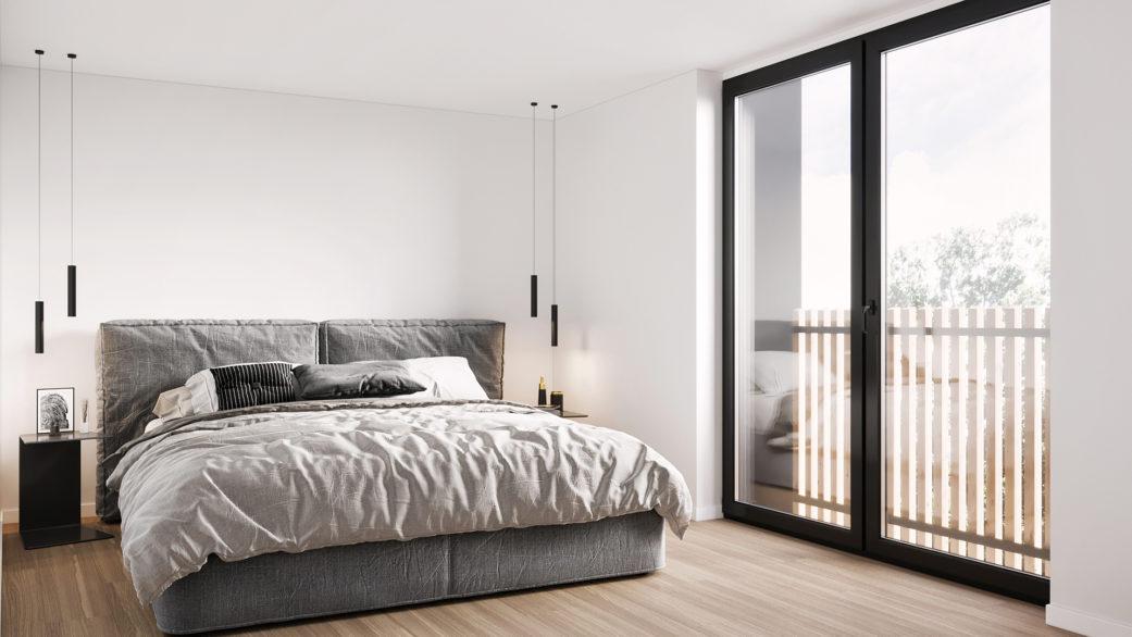 nofuss bedroom 3D rendering