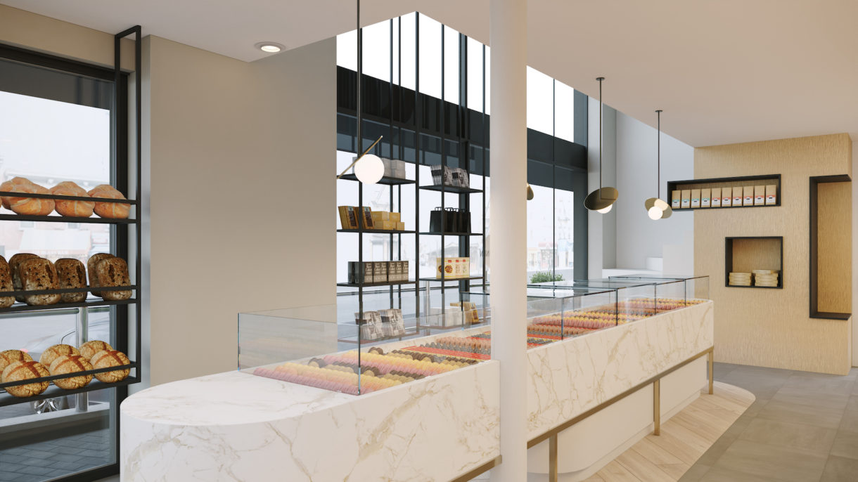Shopfront interior CGI