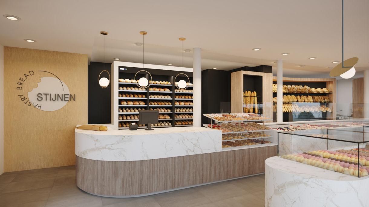 Bakery counter 3D render